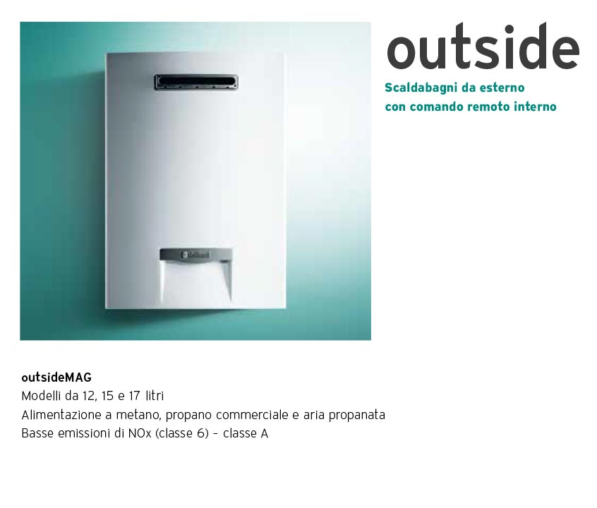 VAILLANT - Scaldabagno outsideMAG Low NOx