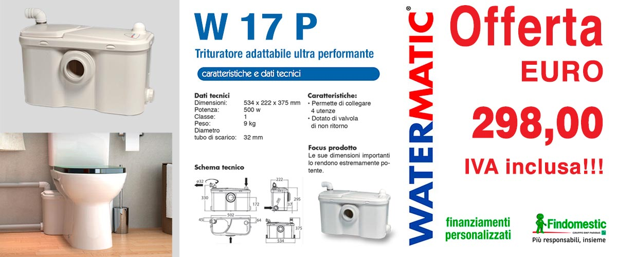 Trituratore Watermatic - W 17 P